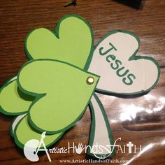 Holy Trinity Shamrock Craft and Bible Lesson for St Patrick's Day