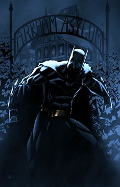 #Batman #Fan #Art. By: Erikvonlehmann. Batman-Arkham-Night-Version.