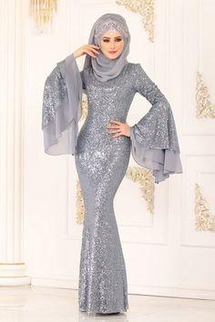Hijab Evening Dress, Hijab Dress Party, Evening Dresses, Muslim Fashion, Hijab Fashion, Fashion Dresses, Prom Dresses With Sleeves, Bridal Dresses, Hijabi Gowns