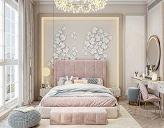 Luxury Kids Bedroom, Bedroom Decor For Teen Girls, Room Design Bedroom, Girl Bedroom Designs, Home Room Design, Home Decor Bedroom, Bedroom Ideas, Luxurious Bedrooms, Luxury Bedrooms