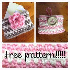 28 best crochet card holder images on pinterest crochet gifts all free crochet pattern chevron pursebusiness card holder reheart Gallery