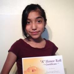 Congratulations To Guadalupe Bueno For Making The Honor Roll! Great Job!