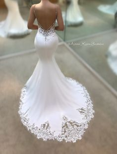 The perfect blend of sweet and sultry -- it's no wonder that the Juri gown from our 2017 Blue by Enzoani bridal collection is one of our most popular wedding dresses, a favorite among brides and retai . Stunning Wedding Dresses, Dream Wedding Dresses, Beautiful Gowns, Bridal Dresses, Wedding Gowns, Blue By Enzoani, Wedding Dressses, Mermaid Dresses, Wedding Beauty