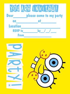for free printable invitations to your next spongebob themed party look no further spongebob coloring pages - Free Printable Spongebob Coloring Pages