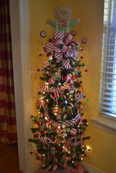 Gingerbread Tree.  I like the candycane ribbon