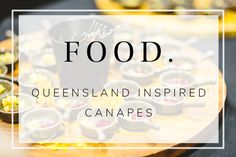 Our creative chefs put together this bespoke food menu with all the best Queensland sourced ingredients. Stradbroke oysters, Bowen mangoes, Hervey Bay scallops and Daintree vanilla. just to name a few delicious ingredients Canapes, Scallops, Food Menu, Chefs, Oysters, Bespoke, Vanilla, Inspired, Creative