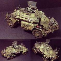 Sdkfz 222 1/35 Tamiya. Modeler David Kidd #scalemodel #plastimodelismo #miniatura #miniature #maqueta #maquette #modelismo #plastickits #usinadoskits #udk #plasticmodel #plastimodelo #hobby #miniatur #tamiya Tamiya Model Kits, Tamiya Models, Army Vehicles, Armored Vehicles, Afrika Corps, Ww2 Pictures, Model Tanks, Military Modelling, Ww2 Tanks
