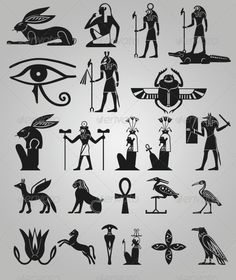 Egypt Symbols Shape Set - Symbols Shapes