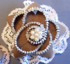 Supplies needed:  Scissors                             button or pearl embellishment for flower center. Needle Thread Zi...