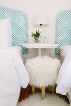 A furry footed poof: http://www.stylemepretty.com/living/2015/08/28/20-sheepskin-draped-decors-that-are-cozy-for-fall/