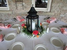 This beautiful and romantic lantern with a candle is from a recent wedding we did. Find this and more with Winfield Wedding Flowers!