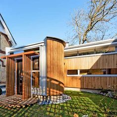 Here are some photos of the recently-completedMaggie's Centre Cheltenham, a cancer care facility designed by London practice MJP Architects. Located within the grounds of Cheltenham hospital in the UK, the centre comprises an existing lodgebuilding and a new single-storey extension, clad in wood and surrounded by an enclosedlandscapedgarden. The new extension includes a large communal …