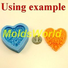 A186 Silicone Mold heart 1 Cavities Flexible Mould for Polymer Clay Resin Candy Fimo Super Sculpey Crafts Jewelry