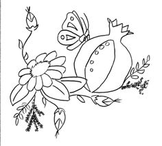 Pomegranate and flower - Yakityak Talks Back: March 2010