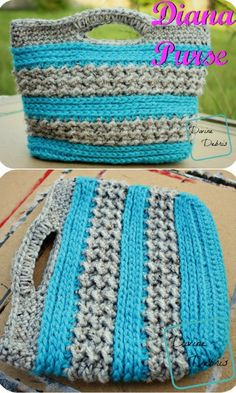 A Crochet Pattern by DivineDebris - a super-cute crochet purse easy to work up!