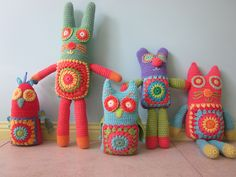 The whole family - well done little woollie!  Crochet softies all together, via Flickr.