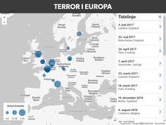 Interaktivt kort: Her har jihadister ramt Europa