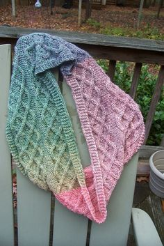 Ravelry: Project Gallery for Double Lattice Garter Edge Cowl pattern by Christina Frizzi