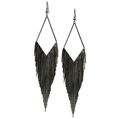 Guess Hematite Fringe Fishhook Drop Earrings Boscov's ($20) ❤ liked on Polyvore featuring jewelry, earrings, guess jewellery, fish hook earrings, fishhook earrings, hematite jewelry и fringe earrings