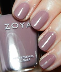 Zoya Naturel Collection Swatches- Brigitte Zinger Nail Polish Why can't my nails look like these? Purple Nail Polish, Zoya Nail Polish, Nail Polish Colors, Toe Polish, Pink Nail, Mauve, Nail Care Tips, Perfume, Manicure And Pedicure