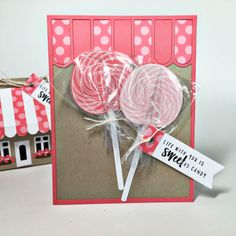 Sweet As Candy Card by Heather Nichols for Papertrey Ink (July 2016)