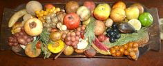 A bit of my stone fruit! Fruits And Vegetables, Veggies, Fruit Love, Colonial Decorating, Alabaster Stone, Stone Fruit, Primitives, Craft Projects, Marble