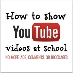 How to show YouTube video clips in the classroom even when your school blocks YouTube (and how to prevent ads, comments, and other inappropriate content from popping up.)