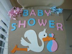 Ideas para cartel de Baby Shower | Manualidades para Baby Shower                                                                                                                                                                                 Más