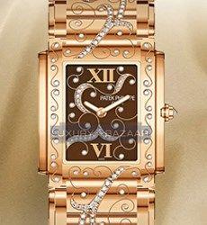 Patek Philippe Ladies Twenty-4 (RG-Diamonds / Brown / RG Bracelet) Patek Philippe, Audemars Piguet, Watch Brands, Gold Watch, The Twenties, Rolex, Diamonds, Watches, Lady