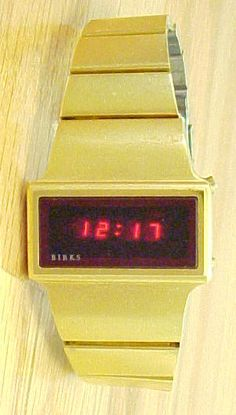Birks LED Watch (7) Led Watch, Digital Alarm Clock, Digital Watch, Watches, Vintage, Wristwatches, Clocks, Vintage Comics