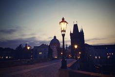 Night photo of Charles bridge in Prague Charles Bridge, Night Photos, Spain Travel, Prague, Beautiful Landscapes, Louvre, Explore, Architecture, Street