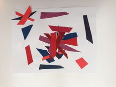 Abstract collage from the youngest artist