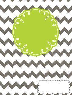 Lesson Plans & Lattes: Binder cover printables