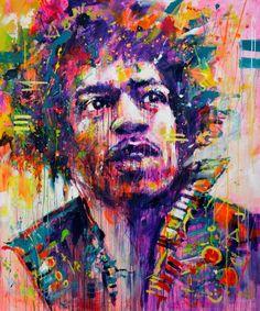 """Saatchi Art Artist Marta Zawadzka; Painting, """"Jimi"""" #art"""