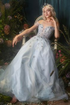 Calypso Gown l Andrea & Leo l Prom Eveningwear Couture Off Shoulder Stars Tulle A-line Gown Fantasy Gowns, Fairytale Dress, A Line Gown, Beautiful Gowns, Gorgeous Dress, Beautiful Models, Dream Dress, Pretty Dresses, Unique Dresses
