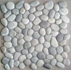 grey pebble tile | tan grey mosaic pebble stone wall floor tile