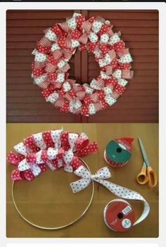 Ribbon wreath - This can turn out beautiful!