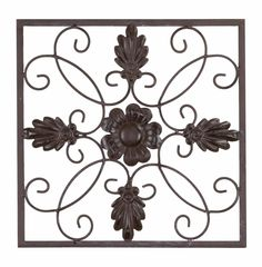 Square Wrought Iron Scroll Wall Décor
