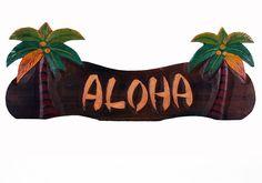 Aloha Palm Tree Sign – Twisted Palms Trading Co.