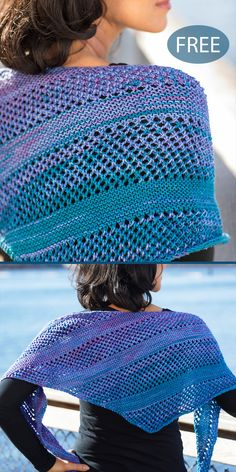 Free Knitting Pattern for Easy Galaxy Lemonade Shawl - Triangle shaped shawl kni. - knitting wrap , Free Knitting Pattern for Easy Galaxy Lemonade Shawl - Triangle shaped shawl kni. Free Knitting Pattern for Easy Galaxy Lemonade Shawl - Triangle sh. Knitted Shawls, Crochet Shawl, Knit Crochet, Knitted Scarves, Knitted Baby, Easy Knitting, Knitting Yarn, Free Knit Shawl Patterns, Crochet Patterns