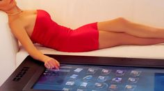 This Multi-touch Table Is Created By Mozayo For Entertainment
