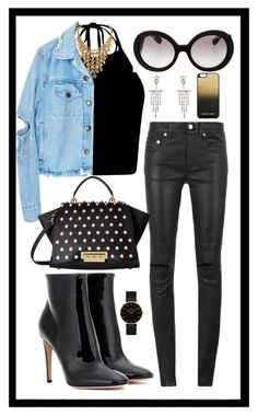 """""""Untitled #421"""" by rockinstyles ❤ liked on Polyvore featuring Yves Saint Laurent, ZAC Zac Posen, Prada, Cathy Waterman, CLUSE, Gianvito Rossi and MICHAEL Michael Kors"""