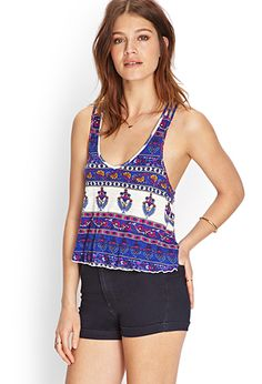 Forever 21- Woven-Crossback Crop Top (also in red)