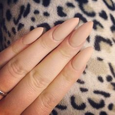 pointy almond shaped nails matte nude - Google Search