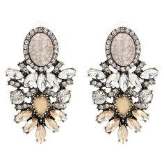 Big Crystal Earrings