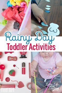 Don't pull out your hair with a cooped up toddler, have fun instead with these rainy day toddler activities