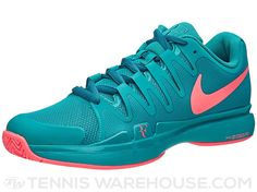 """The new Nike Zoom Vapor 9.5 LG tennis shoe is now available! This Special """"Legend"""" Edition will be Roger Federer's day match shoe at the 2015 US Open. It showcases his five US Open titles with a special logo on the right heel."""