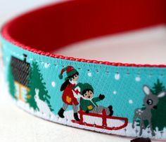 Holiday Home Pet Collar  / Christmas Dog Collar / Adjustable / 3/4 inch width. $16.00, via Etsy.