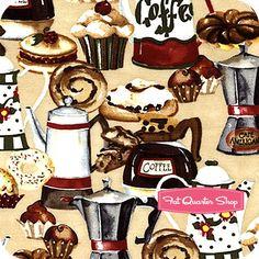 Cafe Americano Latte Tasty Treat Yardage SKU# 33704-123