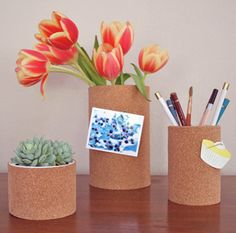 DIY Dorm Room Decor Ideas - Britini's Cork Containers - Cheap DIY Dorm Decor Projects for College Rooms - Cool Crafts, Wall Art, Easy Organization for Girls - Fun DYI Tutorials for Teens and College Students http://diyprojectsforteens.com/diy-dorm-room-decor